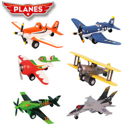 Wholesale Planes Dusty - Newest alloy Dusty planes Aircraft model toy with music and light Vehicles Children Kid Gift 6 model