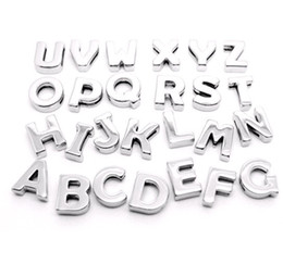 Wholesale Charms Wholesale Prices - Best price 8mm smooth slide letters A-Z fit 8MM bracelets of women belt pet collars keychain 260pcs