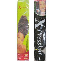 Yaki Curly Hair Extensions Canada - xpression braiding hair extension super jumbo hair kanekalon fiber ultra yaki braid 165G 82INCHES 30colors available