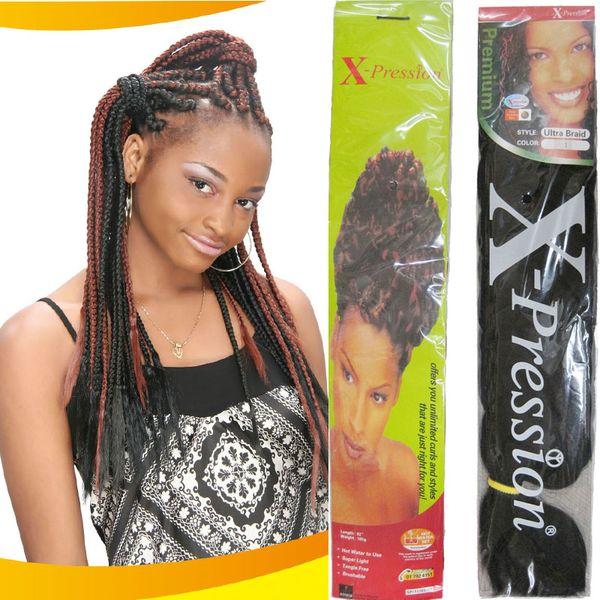 x-pression braid extension 82inch long 165g yaki curl braid synthetic hair extensions ultra braid 9pcs/lot free shipping