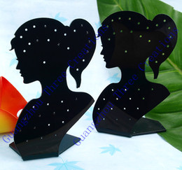 Wholesale Mannequins For Jewelry Display - Wholesale 10pcs 140x90mm Lady Figure Acrylic Stud Earring Jewelry Display Stand Holder,Showcase Counter Fashion Jewelry Display for Earrings