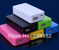 cargador remax power bank al por mayor-Nueva marca de 4800mAh Banco de energía USB Batería de reserva portátil cargador de suministro para todos los teléfonos celulares Color de la mezcla Envío de DHL gratis