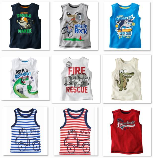 2018 Summer Sleeveless Boys T-shirts Niños Tank Tops Singlet Retail 1pcs / lot Chaleco Dropship
