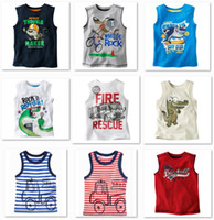 Wholesale Children Singlets - 2014 Summer Sleeveless Boys T shirts Children Tank Tops Singlet Retail 1pcs lot Vest Dropship