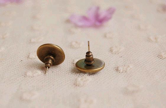 Women Fashion Enamel Perfume Bottle Stud Earrings for Girls Costume Jewelry 12mm rd15