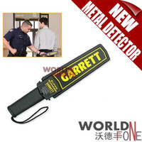 Wholesale Detector Garrett - Brand new High Sensitivity Garrett Super Scanner Hand Held Gold Metal Detector For Security Detectors Hight quality 25PCS LOT (WF-MD19)