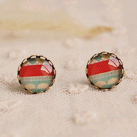 Fashion 2014 Mini Round Stud Earrings for Girls Vintage Earr...