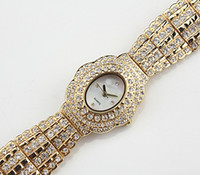 Wholesale Double Power Case - Diamond Ladies WatchThe women's table three ladies watch case crystal scintillation needle double ring diamond watch watchband and watchcase