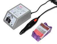 kostenloser nagelkit großhandel-Freies verschiffen EU Stecker 220 V Nail art Ausrüstung Maniküre Werkzeuge Pediküre Acryls Graue Elektrische Nagel Bohrmaschine Set Kit