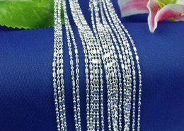 "Wholesale 24 Ball Chain Necklaces - Wholesale 10pcs lot Columnar Join Ball 925 Sterling Silver Necklace Chains Lobster Clasper 16"" 18"" 20"" 22"" 24"" 26"" 28"" 30"" (8 sizes Choose)"
