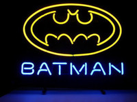 Wholesale Light Blue Superhero - BATMAN SUPERHERO LOGO GLASS NEON BEER BAR PUB GAMEROOM LIGHT SIGN