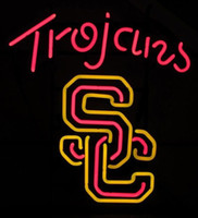 Wholesale Light Football Neon Signs - USC Trojans Logo Football Neon Bar Sign Beer Light USA BRAND NEW IN BOX