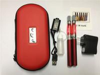ego doppelsätze großhandel-Großhandel - eGo CE4 Doppel-Starter-Kit 2 CE4-Zerstäuber 2 Batterien in eGo-Reißverschluss-Etui 650mah 900mah 1100mah Batterie Elektronische Zigarette eingestellt