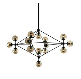 Wholesale Miller Lamps - Modo Chandelier 10 globes 15 globes 21 globes Modern Glass Chandeliers Jason Miller pendant lamp Droplight Living Room Dining Room roll hill