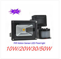 Wholesale Wholesale Bargains - Hot Sale PIR Motion Sensor LED flood light high quality projector light 10W 20W 30W 50W Bargain price