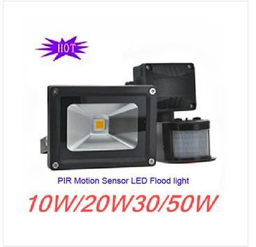 Hot Sale PIR Motion Sensor LED flood light high quality projector light 10W 20W 30W 50W Bargain price