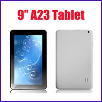 Wholesale Dual Core 9inch - Freeshipping 9inch 9 inch Allwinner A23 Android 4.4 KitKat Dual Core Tablet Dual Camera 1.5GHz 512MB 8GB Wifi YouTube Retail