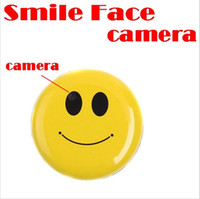 Wholesale Digital Camera Face - Wholesale - Hot Sale Smile Face MP3 Player with Clip + Mini DV Hidden Car DVR Spy Camera Digital Video Recorder Hidden HD Pin Pinhole Camera