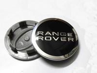 tampa central de 62mm venda por atacado-Os tampões de cubo do centro de roda 4X PRETO para Range Rover Land Rover Evoque 62mm