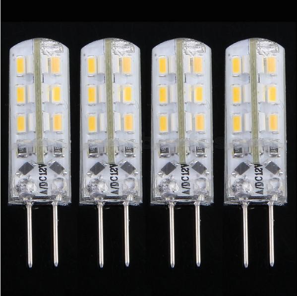 SMD 3014 Lampor ljuskristallljus DC 12V G4 2W 24 LED-lampor Varm vit / Kall vit LED Corn Light med 2 års garanti