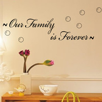 Wholesale forever kids - Free Shipping Our Family Is Forever-Spiritual Quotes On Home Family Wall Decals, Vinyl Wall Stickers For Living Room And Bedroom Decor
