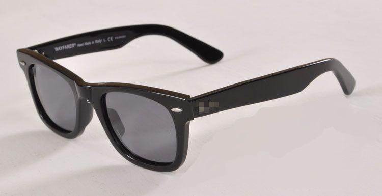 Nueva protección UV400 Plancha de alta calidad Gafas de sol negras Lente de cristal Gafas de sol negras Gafas de sol de playa Protección UV Gafas de sol