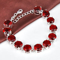 Wholesale Garnet Bracelet Sterling Silver - 925 sterling silver garnet meaningful bracelet jewelry for girl wholesale B0909