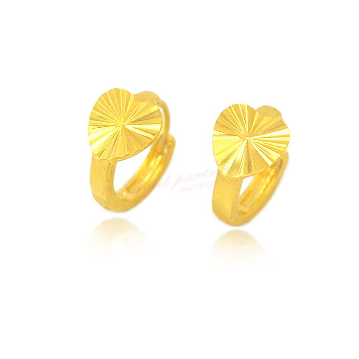 Imitation Gold Jewelry Simple Retro Love Earrings Ear Ring ...