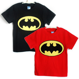Wholesale Sale Boys Tshirts - BATMAN Boy's Short Sleeve T-shirts Toddler Tshirts Retail Hot Sale 100% Cotton kids t shirts Free Shipping