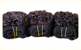 "Wholesale Grade 5a Virgin Brazilian Hair - 5A High Grade 100% virgin Brazilian hair extension weft kinky curly #1B 8""-32"" mixed 3pcs lot Queen hair Free shipping DHL Remy Hair weave"