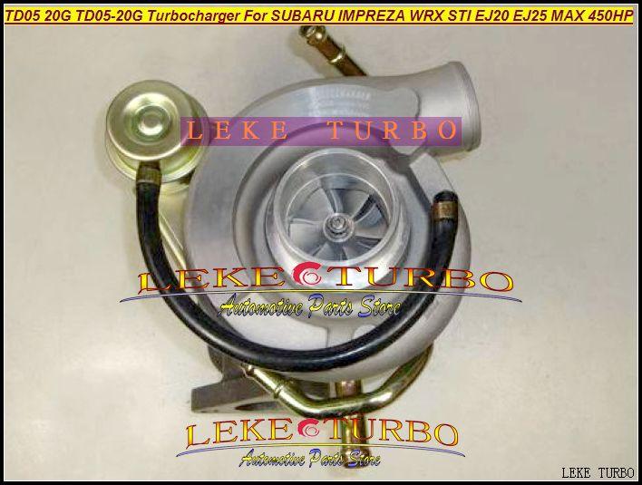 TD05 20G 8 TD05-20G TD05-20G-8 터보 터빈 터보 차저 Subaru Impreza WRX STI 엔진 EJ20 EJ25 Max 450HP + 개스킷 + 파이프 최대 450HP