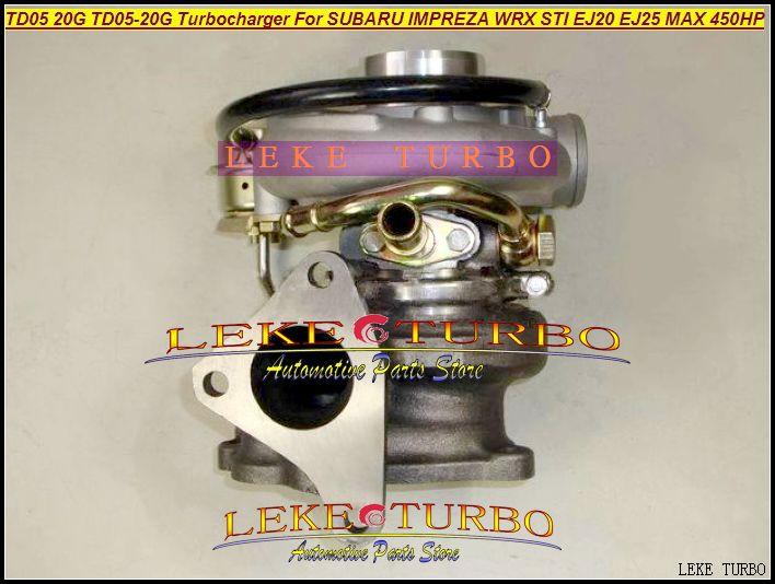 TD05 20G 8 TD05-20G TD05-20G-8 Turbo Turbine Turbocompressor voor Subaru Impreza WRX STI-motor EJ20 EJ25 MAX 450HP + Pakkingen + pijp Max 450HP