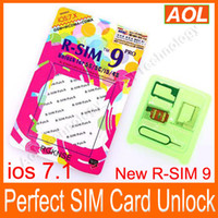 Wholesale Iphone Unlock Uk - best price R SIM 9 R-SIM 9 PRO RSIM9 Perfect UNLOCK iphone 4s 5 5c 5s ios 7.1 7.1.1 AT&T T-mobile UK rogers 3G 4G