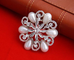 Wholesale Order Flower Brooches - Min.order $10(can mix order)Hot Sale!!Bridesmaid Flower Girl Wedding Rhinestone pearl Brooches Pins