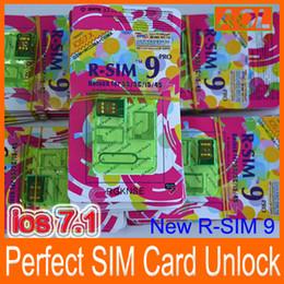 Wholesale Iphone Gpp - Best New RSIM 9 PRO Super perfect R SIM 9 Unlock ALL iPhone 5S 5C 5G 4S Official IOS 7 7.1T-mobible Docomo Sprint Verizon GPP GSM CDMA