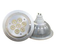 Wholesale High Power E27 21w - Wholesale - High Quality Bridgelux 7X3W 21W AR111   QR111   ES111 LED ceiling lamp down light ,FedEX or DHL Free Shipping