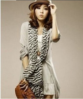 Wholesale Wholesale Fashion Scarves Zebra - New Fashion Accessories Zebra Scarves Muffler spring Autumn shawl scarf for women nice gift wholesale i SH05