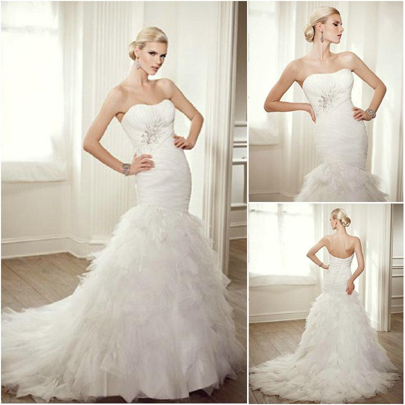 Wedding Dresses With Ruffles At The Bottom Fashion Dresses