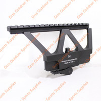 Wholesale mark side - Drss CNC AK47 74 Side Rail Scope Mount Marking Black Free Shipping(DS1950A)