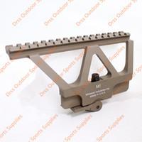 Wholesale side mounted scope mount rail resale online - Drss CNC AK47 Side Rail Scope Mount Marking Dark Earth DS1950B