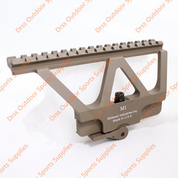 Wholesale Ak47 Rail Mount - Drss CNC AK47 74 Side Rail Scope Mount Marking Dark Earth(DS1950B)