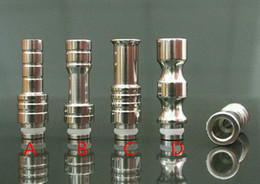 Wholesale T Steel Shaped - Big Caliber Vapor Rich Style Fashion Shape 38mm 45mm 45mm Stainless Steel Drip Tip Metal Drip Tips 510 901 CE4 EGO T Atomizer Mouthpieces