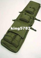 """Wholesale Dual Gun Carrying - 48"""" SWAT Dual Tactical Rifle Carrying Case Gun Bag OD fre ship"""
