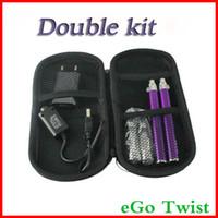 Wholesale Ego C Double Kits - CE4+ eGo-c Twist starter kit electronic cigarette 1300mah 1100mah 900mah 650mah ego cigarette CE4 atomzier CE4+ double kit changeable head