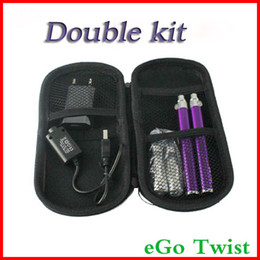 Wholesale Ego Double Twist - CE4+ eGo-c Twist starter kit electronic cigarette 1300mah 1100mah 900mah 650mah ego cigarette CE4 atomzier CE4+ double kit changeable head