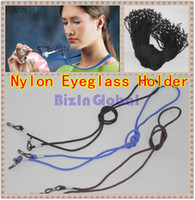 Wholesale Nylon Eyewear Holder - 50 X high quality Nylon Eyeglass Holder Cord Sunglass Glasses Eyewear Neck Strap Black Blue Brown