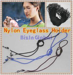 Wholesale Nylon Eyewear Holder - 50 X high quality Nylon Eyeglass Holder Cord Sunglass Glasses Eyewear Neck Strap Black Blue Brown