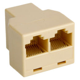 RJ45 CAT 5 6 LAN Ethernet Splitter conector do adaptador PC (Adapter)
