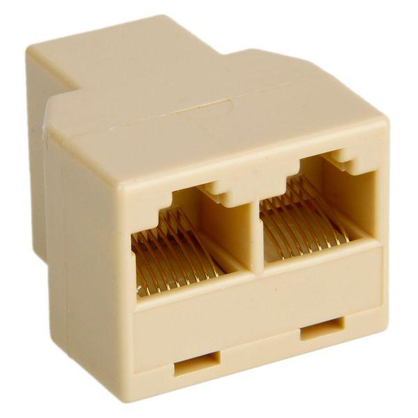 RJ45 CAT 5 6 LAN Ethernet Splitter Connector Adapter PC(Adapter)