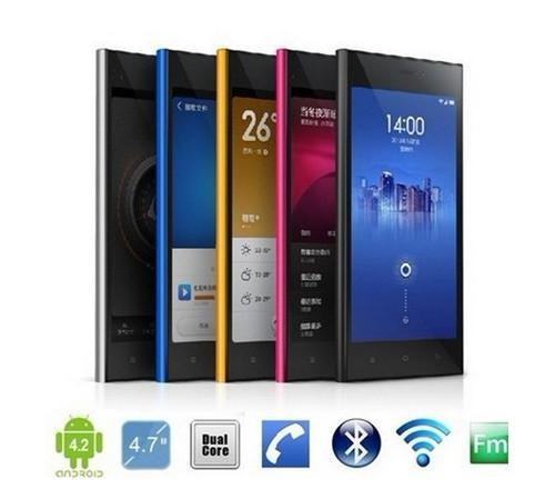 HTM M1 xiaomi hongmi 4.7 inch HD Touch screen MTK6572 Dual Core 1.3GHz Android 4.2 OS Smartphone Dual Sim Card Dual Camera six colors